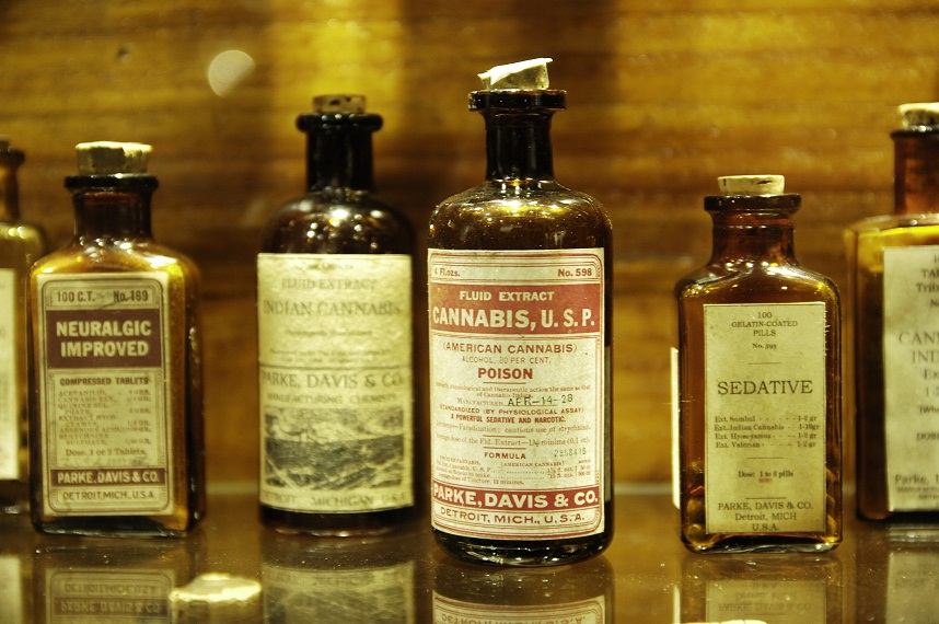 Medicinal cannabis tinctures, early 20th century