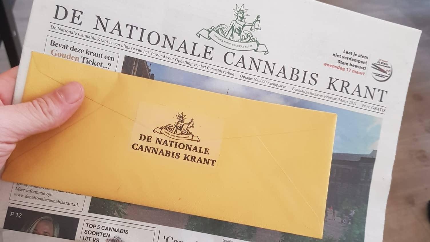 Gouden Ticket De Nationale Cannabis Krant